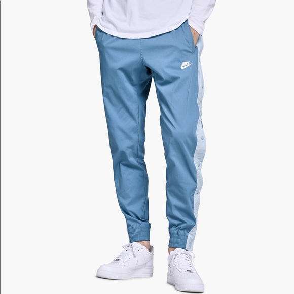 NIKE NSW AF1 WOVEN SNAP PANTS Light Blue/White